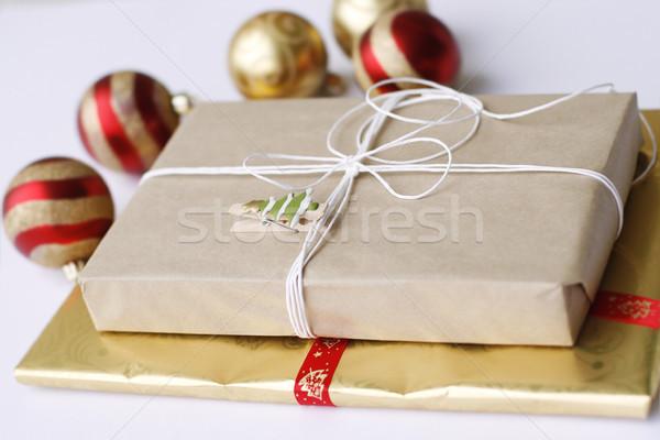 два просто Рождества подарки украшения Сток-фото © ElinaManninen