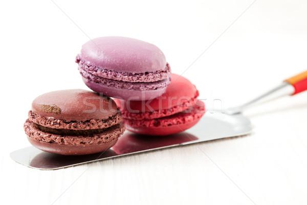 Renkli üç kek Sunucu ışık Stok fotoğraf © ElinaManninen
