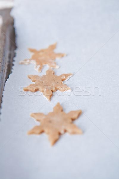 Három alakú mézeskalács darabok közelkép csillag Stock fotó © ElinaManninen