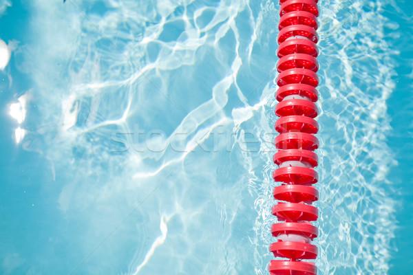 úszómedence sáv kötél közelkép piros textúra Stock fotó © ElinaManninen