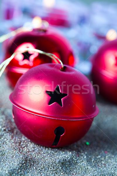 Рождества колокола фон красный цвета Сток-фото © ElinaManninen