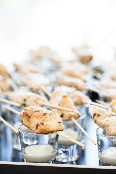 куриные частей приготовленный майонез Сток-фото © ElinaManninen