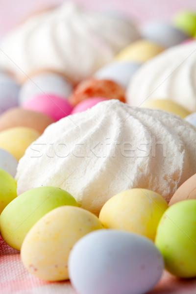 Stock fotó: Húsvét · cukorka · közelkép · pasztell · színes · csokoládé