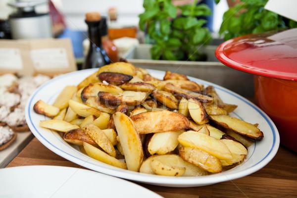 Thick french fries Stock photo © ElinaManninen
