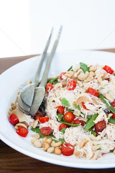 健康 新鮮な サラダ クローズアップ プレート ヌードル ストックフォト © ElinaManninen