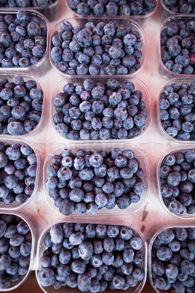 черника свежие зрелый фон рынке Сток-фото © ElinaManninen
