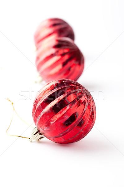 Karácsony piros háttér csoport ünneplés új Stock fotó © ElinaManninen