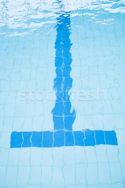 Fenék sáv vonal úszómedence befejezés eltorzult Stock fotó © ElinaManninen