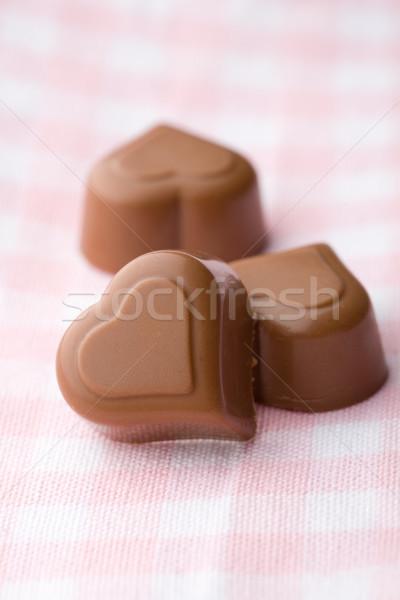 формы сердца шоколадом Рождества аннотация сердце Сток-фото © ElinaManninen