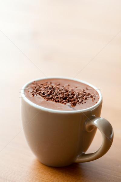 Chocolate quente delicioso chocolate beber sobremesa Foto stock © ElinaManninen