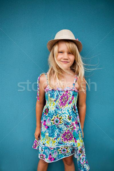 Cute счастливым Hat Сток-фото © ElinaManninen