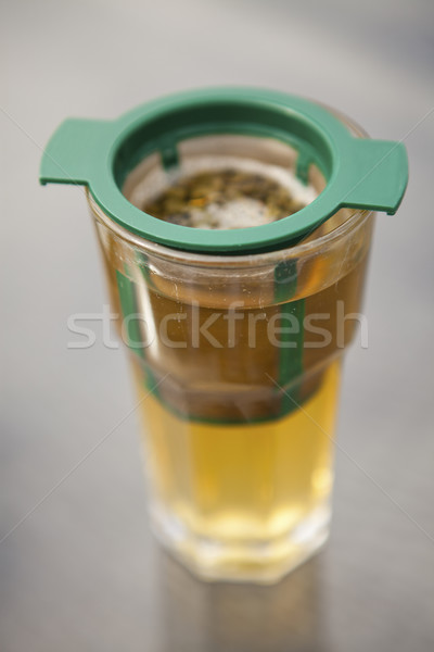 Glass of green tea Stock photo © ElinaManninen