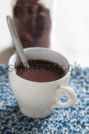 горячий шоколад Кубок стекла пить энергии Сток-фото © ElinaManninen