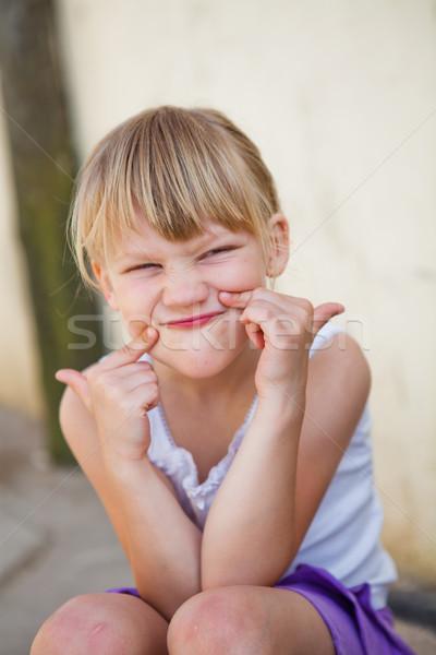 портрет улыбаясь Cute смешные Сток-фото © ElinaManninen