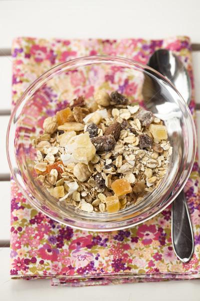мюсли здорового сушат фрукты завтрак Сток-фото © ElinaManninen