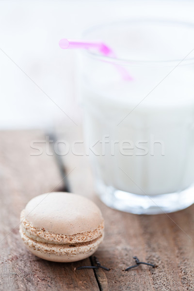 Macaroon and milk Stock photo © ElinaManninen