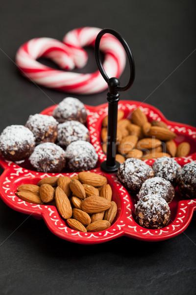 Рождества конфеты лоток шоколадом Сток-фото © ElinaManninen