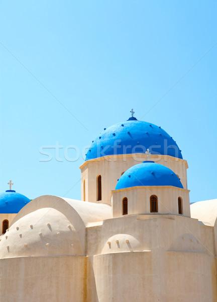 教会 サントリーニ ギリシャ 青空 空 クロス ストックフォト © ElinaManninen