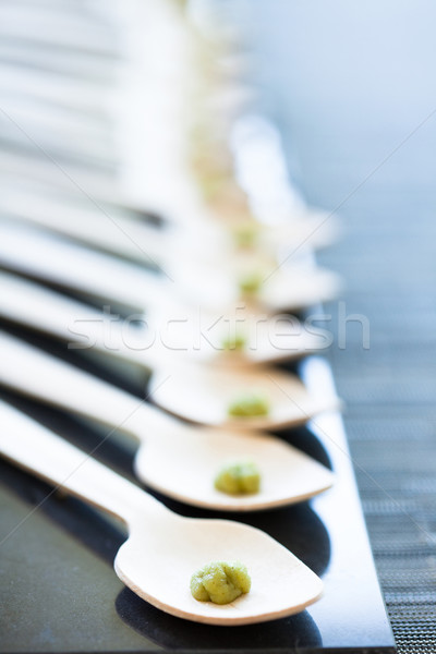 Wasabi paste on spoons Stock photo © ElinaManninen
