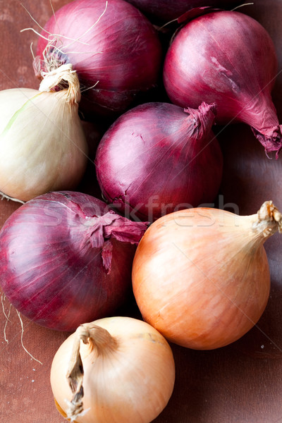 Red and yellow onions Stock photo © ElinaManninen