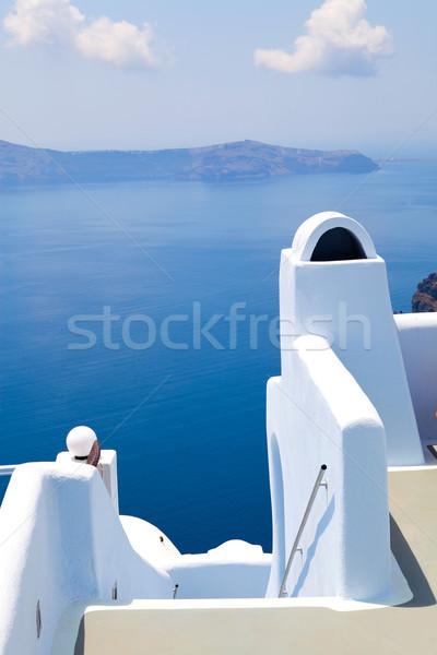 View of the caldera in Santorini, Greece Stock photo © ElinaManninen