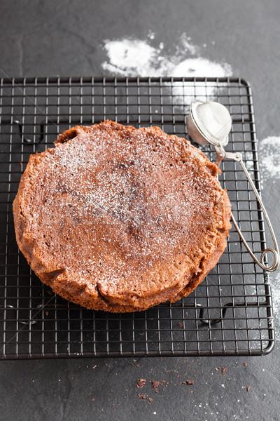 Chocolate cake Stock photo © ElinaManninen