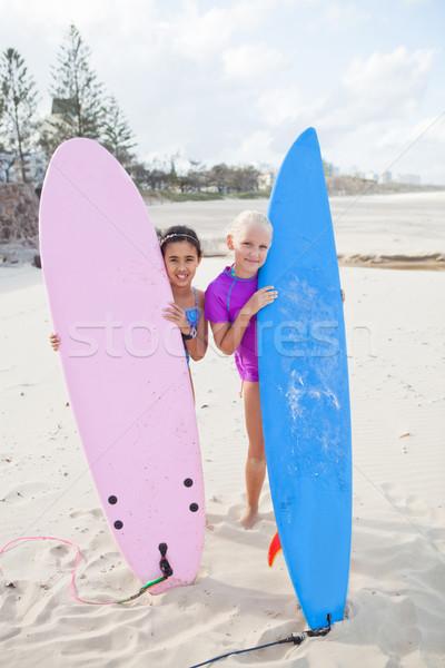два счастливым молодые девочек Сток-фото © ElinaManninen