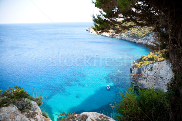 Beautiful view of coastline in Zakynthos Stock photo © ElinaManninen