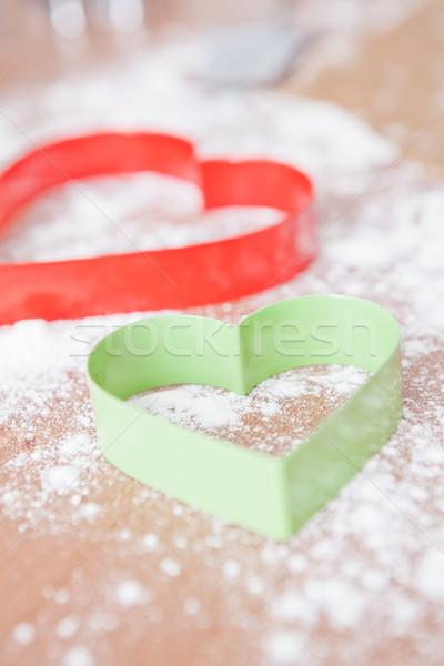 Heart shaped gingerbread cutters Stock photo © ElinaManninen