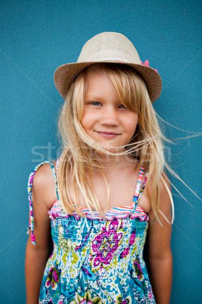 улыбаясь Cute портрет счастливым Сток-фото © ElinaManninen