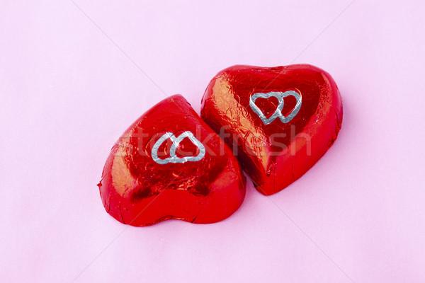 çikolata kalpler sevgililer günü şeker tatlı Stok fotoğraf © ElinaManninen