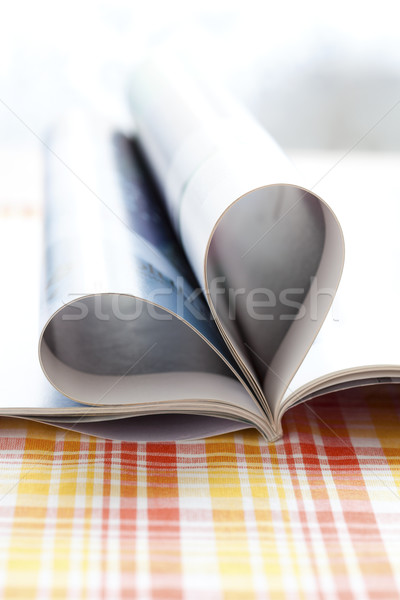 Heart shape magazine  Stock photo © ElinaManninen