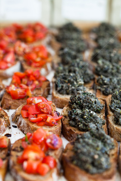 Bruschetta appetizers Stock photo © ElinaManninen