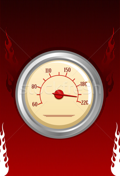 Vector speedometer with fires Stock photo © Elisanth