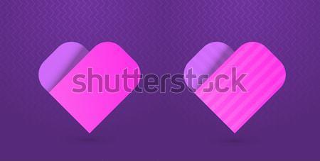 сердце иконки Purple розовый eps10 Сток-фото © Elisanth