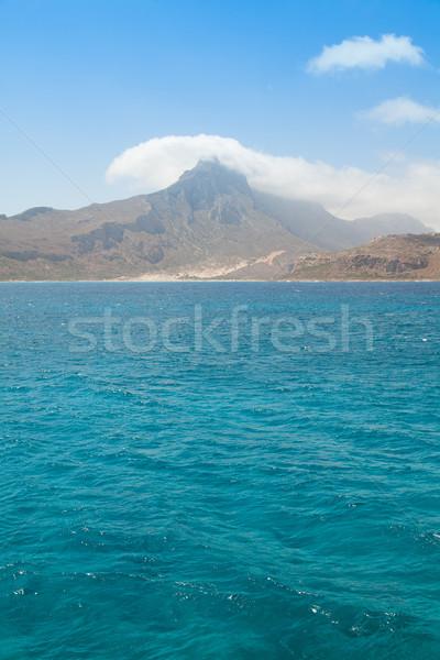 Dağ deniz görmek güzel su doğa Stok fotoğraf © Elisanth