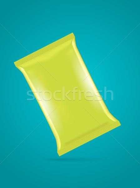 вектора зеленый сумку шаблон картофельные чипсы кофе Сток-фото © Elisanth