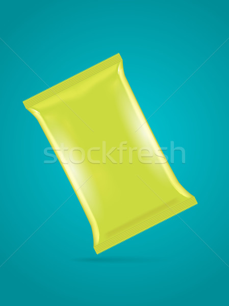 Vector groene zak sjabloon chips koffie Stockfoto © Elisanth