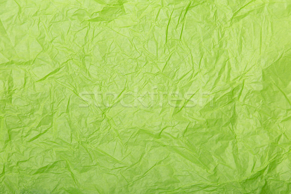 Lime green wrinkled paper texture  Stock photo © Elisanth