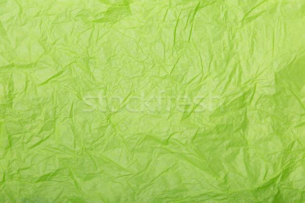 Kireç yeşil buruşuk kağıt dokusu atış Stok fotoğraf © Elisanth