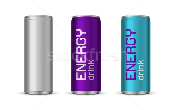 Fényes energiaital kék lila szín izolált Stock fotó © Elisanth
