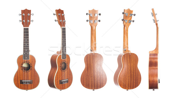 набор изолированный белый древесины гитаре Сток-фото © Elisanth