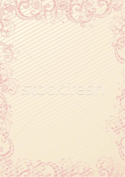 Сток-фото: вектора · цветочный · обои · бежевый · текстуры · дизайна