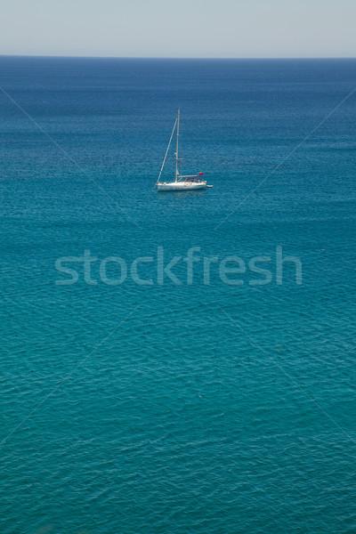 Witte zeilschip jacht middellandse zee zee eiland Stockfoto © Elisanth