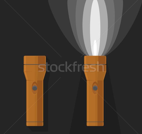2 オレンジ オフ ダークグレー ランプ エネルギー ストックフォト © Elisanth