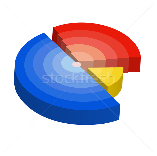Vector illustration of radial diagram Stock photo © Elisanth