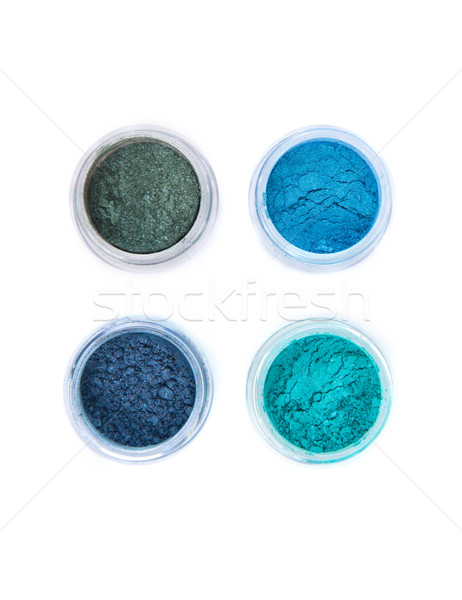 Top view of mineral eye shadows in pastel colors   Stock photo © Elisanth