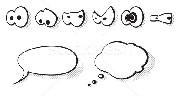 набор вектора Cartoon глазах глаза Сток-фото © Elisanth
