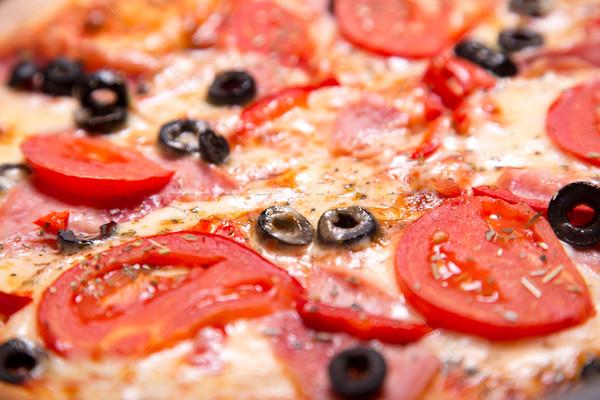 выстрел итальянский пиццы ветчиной Сток-фото © Elisanth
