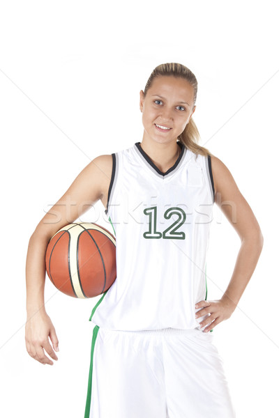 Smiling female basketball player  Stock photo © Elisanth